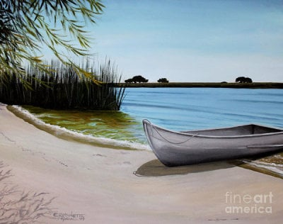 landscape paintings, art, paintings,  beach art, ocean paintings, wall art, ElizaArt, boat art, boat paintings, our beach, unwind, vacation, relax